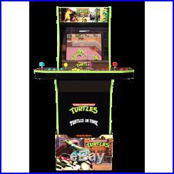Teenage Mutant Ninja Turtles Retro Arcade Machine Arcade1UP Video Game Riser