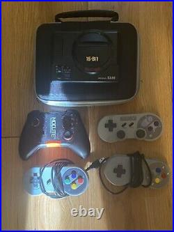 The Retro Gaming Console And Additional Controllers