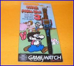 VINTAGE 1993 90s NINTENDO GAME WATCH SUPER MARIO BROS. 3 MOC CARDED RETRO RARE