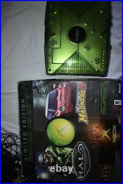 Video Gioco Retro Game Console microsoft xbox limited green boxed crystal halo 1