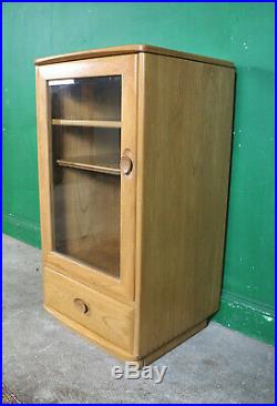 Vintage Ercol Hi Fi Cabinet, Elm, Windsor Record Player Media Unit Games Console